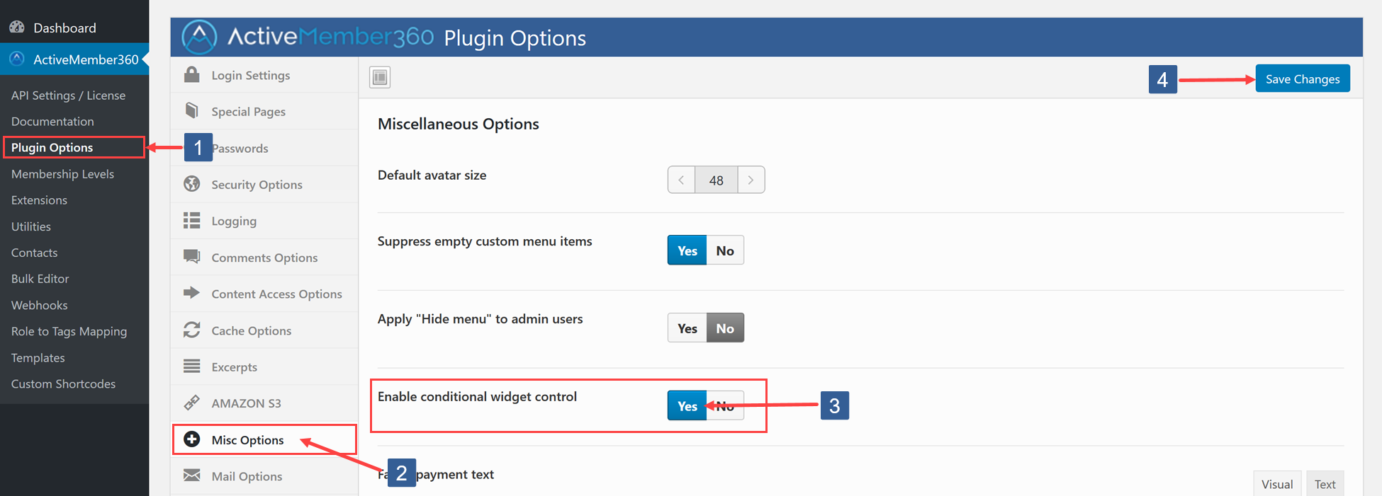 Steps to enable Widget Control